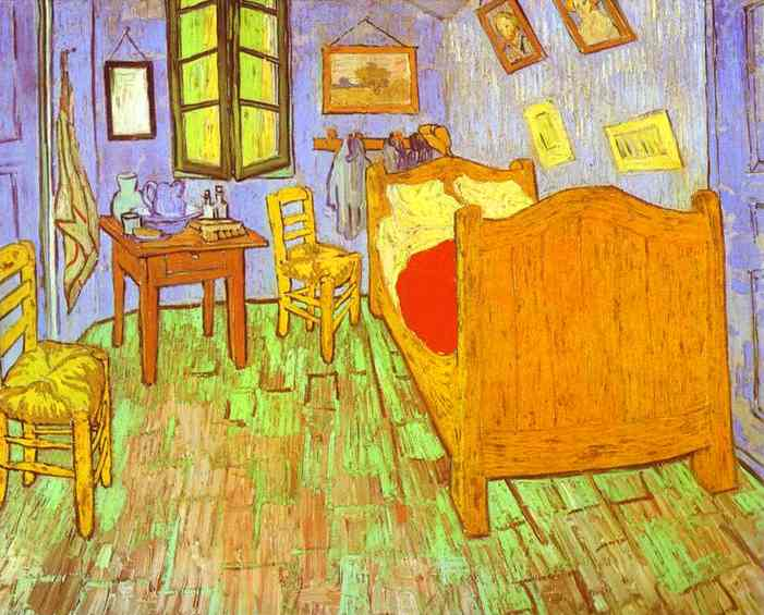 Camera da letto di Van Gogh ad Arles. Saint-Rémy, olio di Vincent ...
