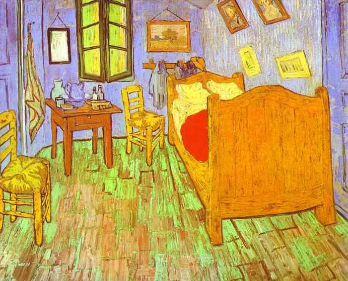 OilPainting  [{W-BRUE-5ZKG88}]-VARNISH-FRAME(2018HK)-PROMOTION(HVTHR15)-Linen-Dim(28 x  23 inch (71 x 58 cm))-Vincent Van Gogh-Camera da letto di Van ...