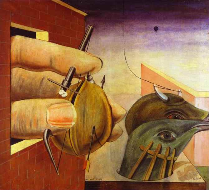 'Edipo re', olio di Max Ernst (1891-1976, Germany)