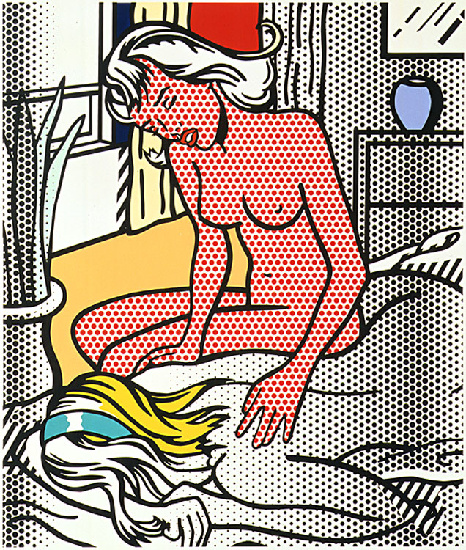 'Due nudi (1994)', olio di Roy Lichtenstein (1923-1997, United States)