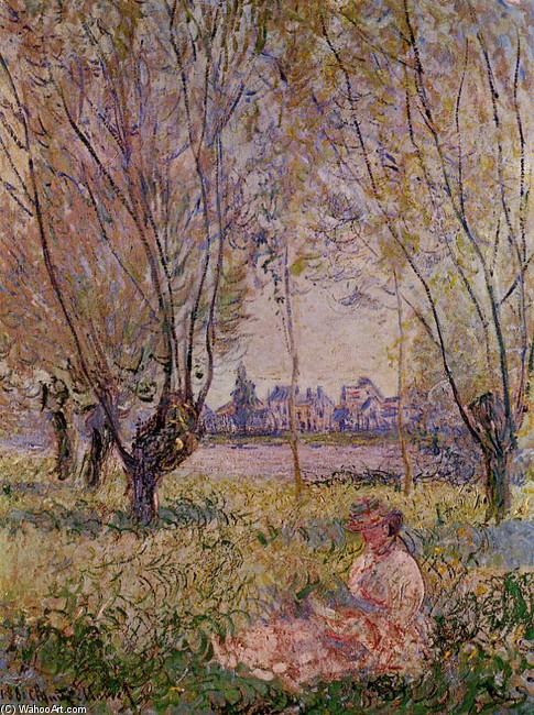 seduta della donna sotto salici di Claude Monet (1840-1926 a23de648458e