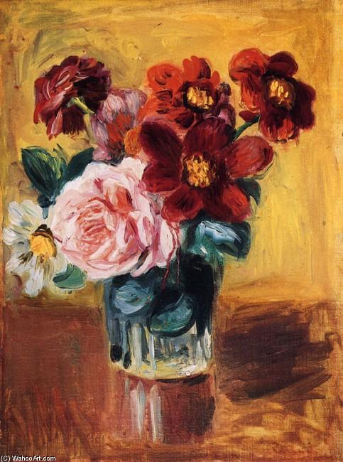 Fiori in un vaso 1 di Pierre-Auguste Renoir (1841-1919, France ...