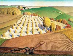 Grant Wood - Autunno Arare
