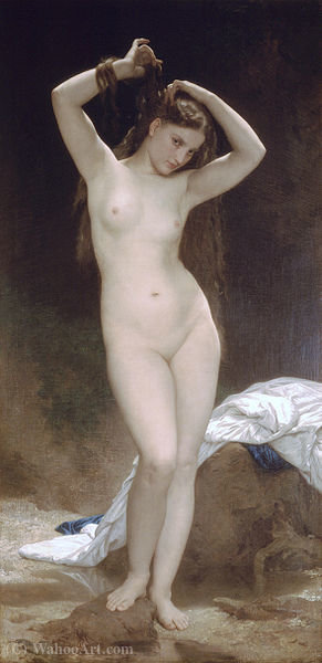 Bagnante, olio di William Adolphe Bouguereau (1825-1905, France)