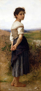 William Adolphe Bouguereau - La giovane pastorella