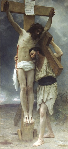 Compassione, oliio di William Adolphe Bouguereau (1825-1905, France)
