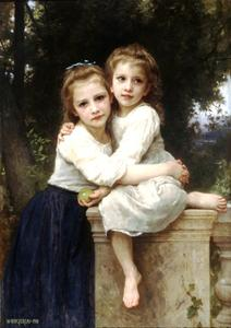 William Adolphe Bouguereau - Due sorelle
