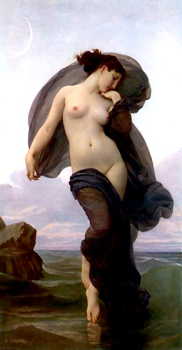 sera umore di William Adolphe Bouguereau (1825-1905, France) | Riproduzioni Di Belle Arti William Adolphe Bouguereau | WahooArt.com