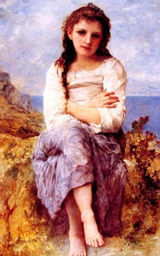 Far Niente, oliio di William Adolphe Bouguereau (1825-1905, France)