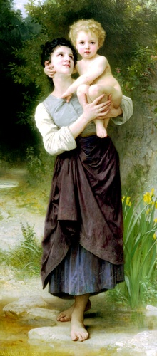 Fratello e sorella, oliio di William Adolphe Bouguereau (1825-1905, France)