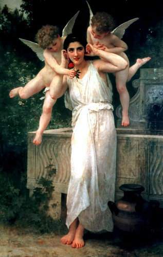 I giovani, oliio di William Adolphe Bouguereau (1825-1905, France)