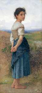 William Adolphe Bouguereau - Giovane pastorella CA