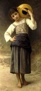 William Adolphe Bouguereau - Una ragazza dalla fontana