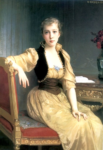 Lady Maxwell 1890 129.2x89.2cm, oliio di William Adolphe Bouguereau (1825-1905, France)