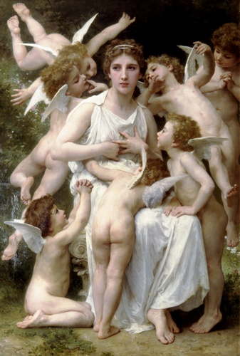 Lassaut, oliio di William Adolphe Bouguereau (1825-1905, France)