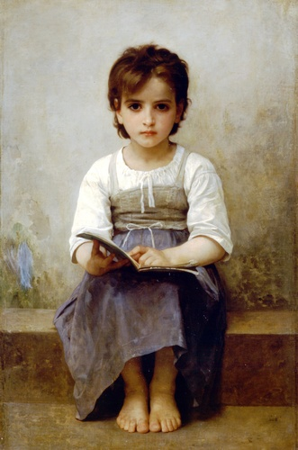 La dura lezione, oliio di William Adolphe Bouguereau (1825-1905, France)