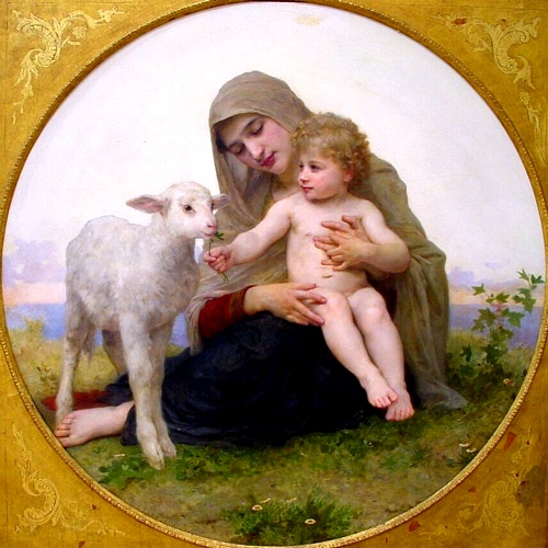 La Vergine Lagneau, olio di William Adolphe Bouguereau (1825-1905, France)