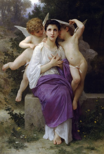 Leveille Cuore, oliio di William Adolphe Bouguereau (1825-1905, France)