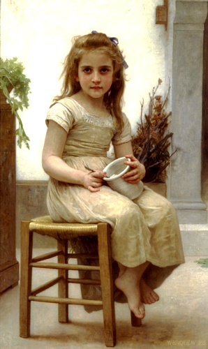 Il gusto, oliio di William Adolphe Bouguereau (1825-1905, France)