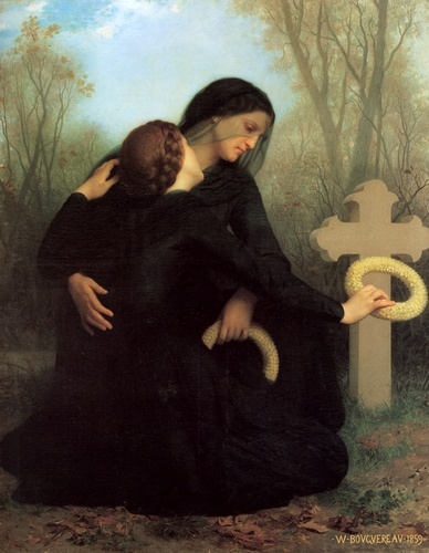 Day of the Dead, oliio di William Adolphe Bouguereau (1825-1905, France)