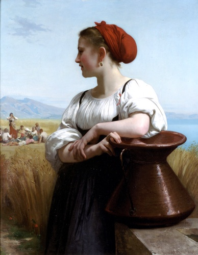Combinare, oliio di William Adolphe Bouguereau (1825-1905, France)