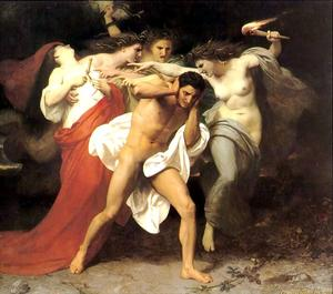 William Adolphe Bouguereau - Oreste perseguito dalle Furie