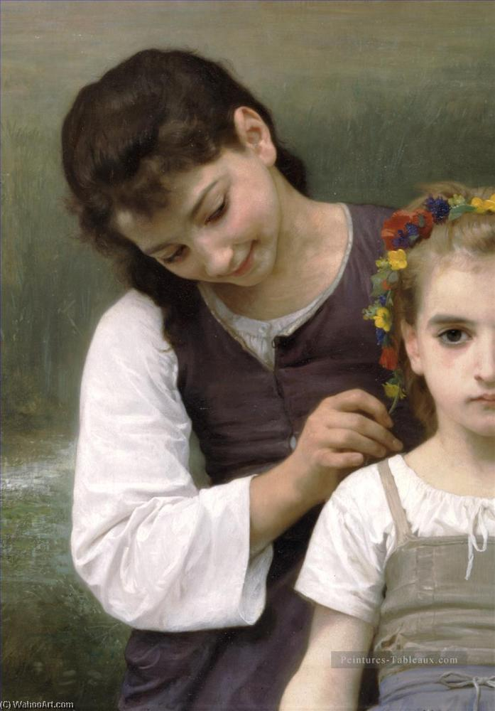 Parure des champs sinistra, olio di William Adolphe Bouguereau (1825-1905, France)