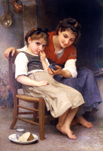 Poco sulky, oliio di William Adolphe Bouguereau (1825-1905, France)