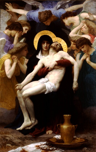 Pietà 1876  , olio di William Adolphe Bouguereau (1825-1905, France)