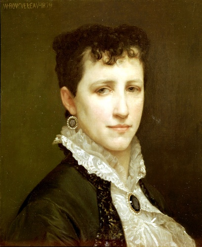 Ritratto di Miss Elizabeth Gardner, oliio di William Adolphe Bouguereau (1825-1905, France)