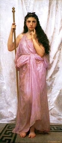 Sacerdotessa, oliio di William Adolphe Bouguereau (1825-1905, France)