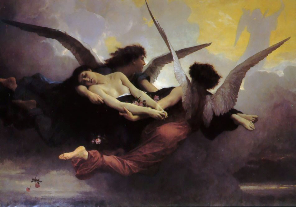 Anima Carried to Heaven, olio di William Adolphe Bouguereau (1825-1905, France)