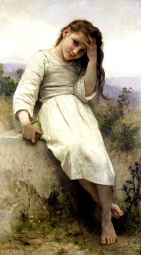 The Little Marauder 1900, oliio di William Adolphe Bouguereau (1825-1905, France)