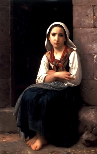 Yvonette, oliio di William Adolphe Bouguereau (1825-1905, France)