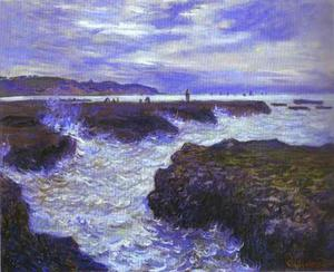 Claude Monet - The Rocks vicino a Pourville a Ebb Tide
