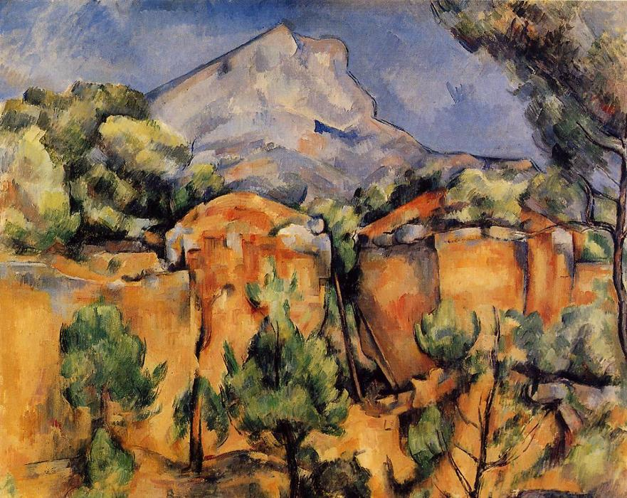 Mont Sainte-Victoire visto di Bibémus Quarry, 1897 di Paul Cezanne (1839-1906, France) | Copia Pittura | WahooArt.com