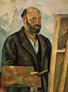 Paul Cezanne - Autoritratto con tavolozza