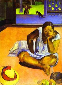 Paul Gauguin - Te Faaturuma (Brooding donna)