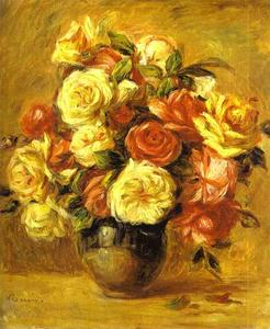 Pierre-Auguste Renoir - bouquet di rose ( Mazzo de rose )