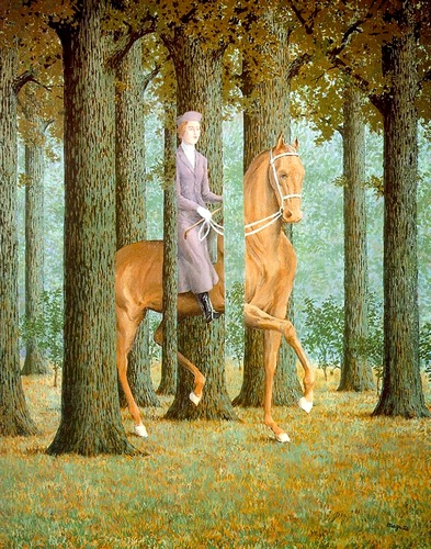 Il Blank Check di Rene Magritte (1898-1967, Belgium) | WahooArt.com