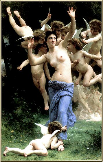 Invadere Realm di Cupido di William Adolphe Bouguereau (1825-1905, France) | WahooArt.com