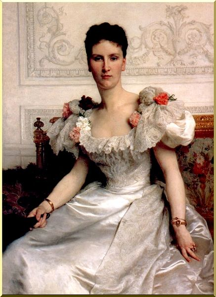 ritratto di dama contessa di cambacérès  di William Adolphe Bouguereau (1825-1905, France) | WahooArt.com