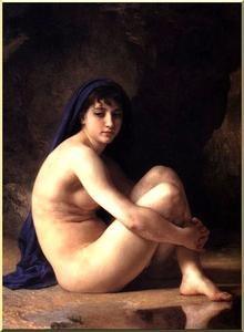 William Adolphe Bouguereau - seduti nudo