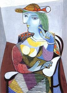 Pablo Picasso - donna seduta ( Marie-Therese Walter )