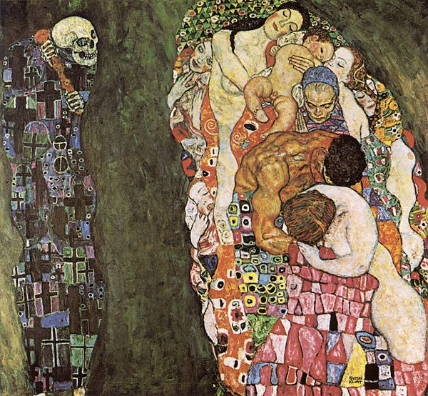 Morte e arte Gustav+Klimt+-+Death+and+Life+(1916)+