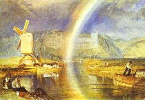 William Turner - Arundel Castello , con arcobaleno
