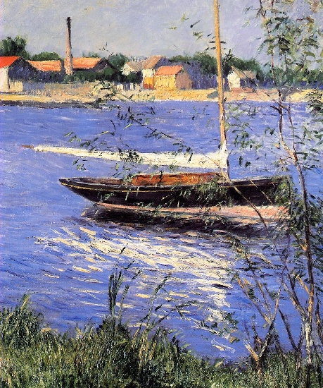 Ancorato barca sulla Senna ad Argenteuil di Gustave Caillebotte (1848-1894, France) | WahooArt.com