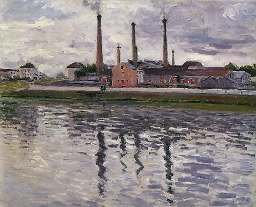 Fabbriche a Argenteuil, 1888 di Gustave Caillebotte (1848-1894, France) | WahooArt.com