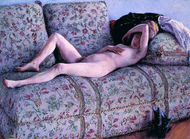 coucs Nud, olio di Gustave Caillebotte (1848-1894, France)