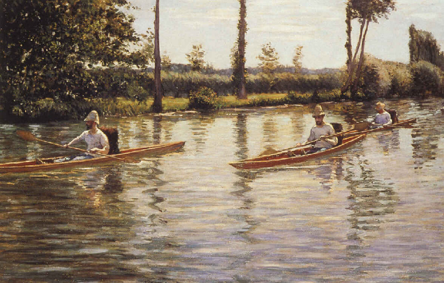 Perissoires sur l Yerres alias Canottaggio sulle Yerres di Gustave Caillebotte (1848-1894, France) | WahooArt.com